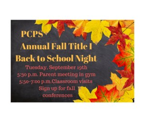 Fall leaves invitation to Title I meeting