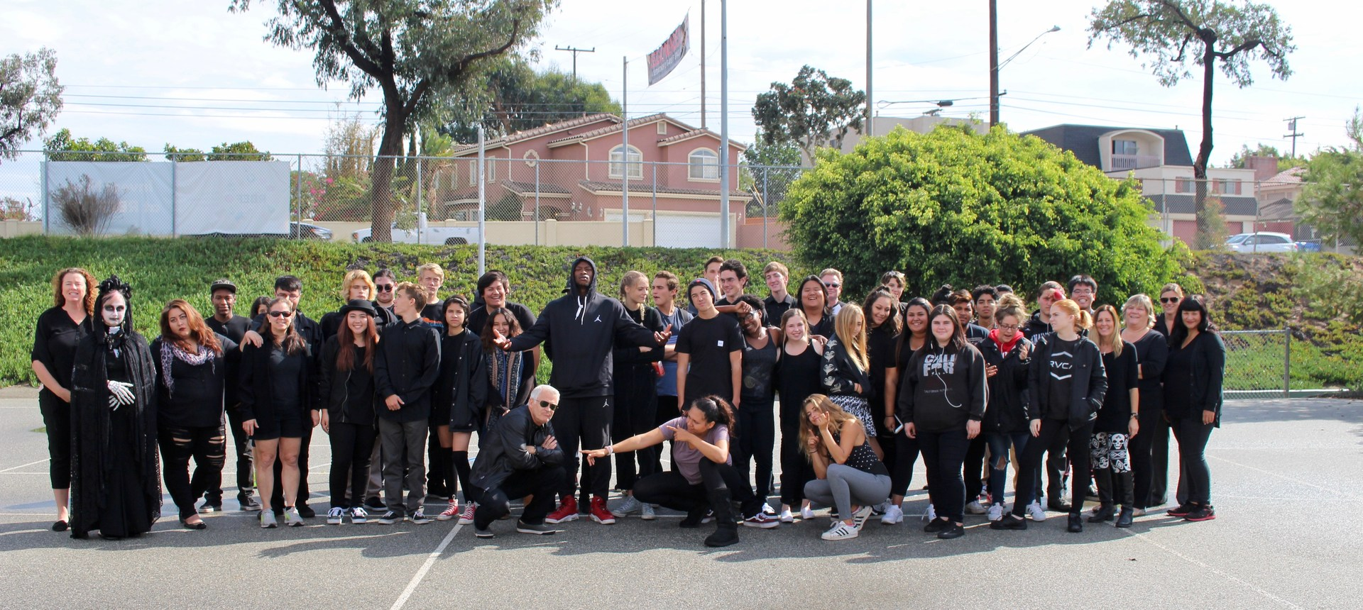 Redondo Shores, students and staff: Clad in Black Day.