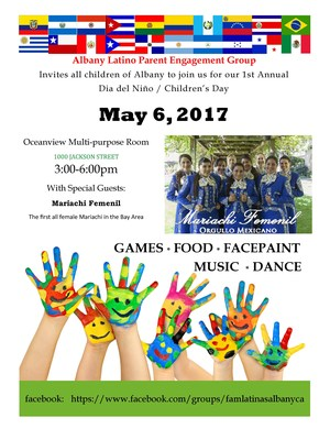 Invite to Dia del Ni ño / Children's Day May 6 at Ocean View