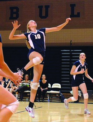 Kelsey Kuipers as an Otsego volleyball player