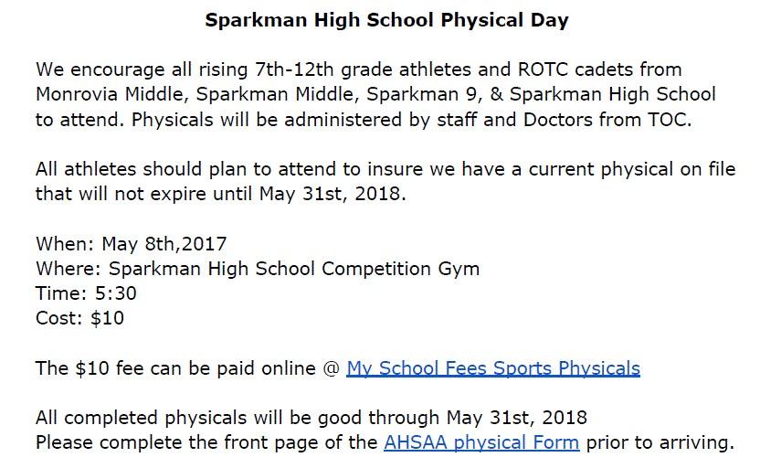 Athletics - Athletic Departments - Sparkman High School