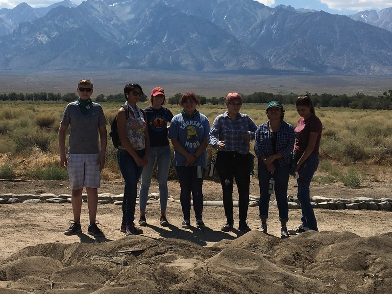 RHS students on a special field trip to Manzanar HIstoric site.