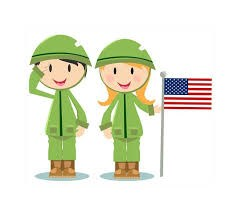 boy and girl dressed in uniform holding a flag while saluting