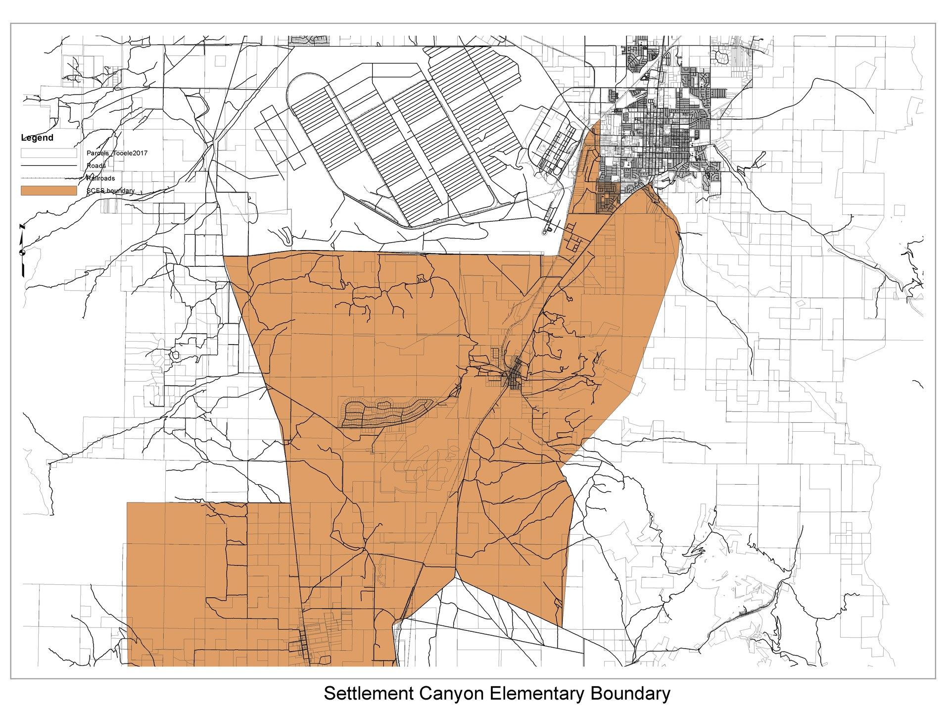 Settlement Canyon Elementary School boundary