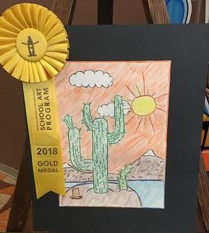 Artistic image of cactus plant