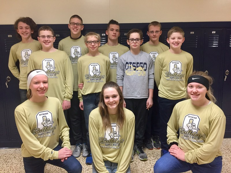 OMS swimmers competing at state