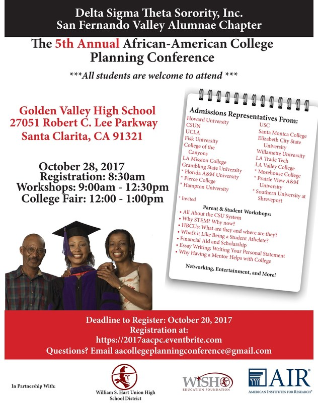 5th Annual African American College Planning Conference Set For Oct. 28th Featured Photo
