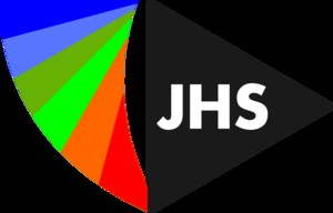 JHS Media logo with rainbow colors