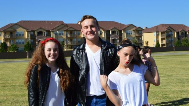 Students dressed as Greasers from HMS