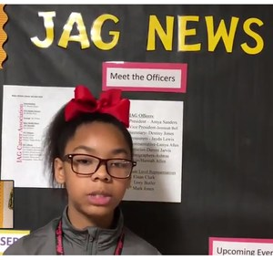A photo of a Baker Middle School JAG student