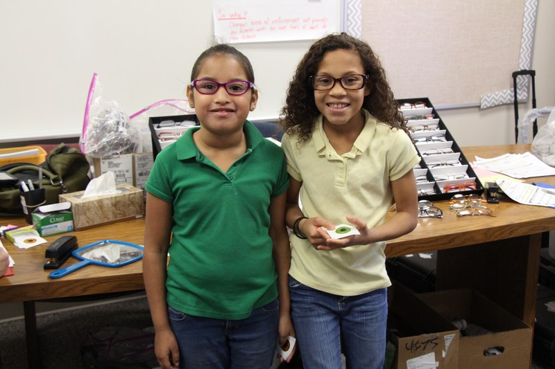 West Elementary students picked out new frames.
