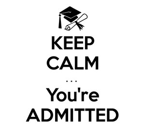 you are admitted