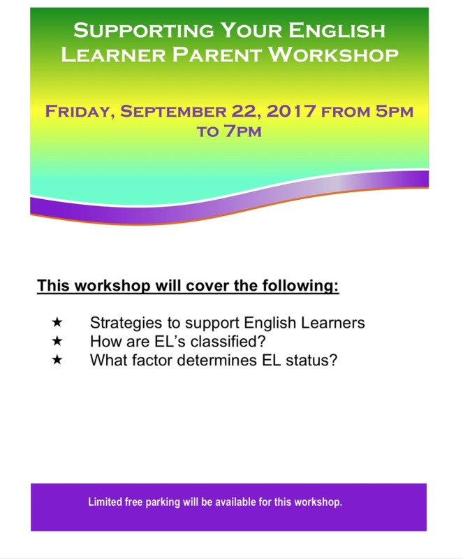 Supporting Your English Learner Parent Workshop Thumbnail Image