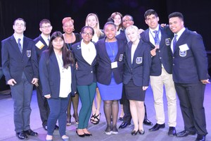 Brewer DECA students who competed at state competition