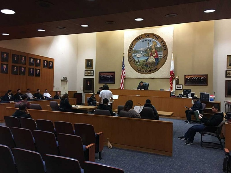 Sierra HS Visits County Courts Featured Photo