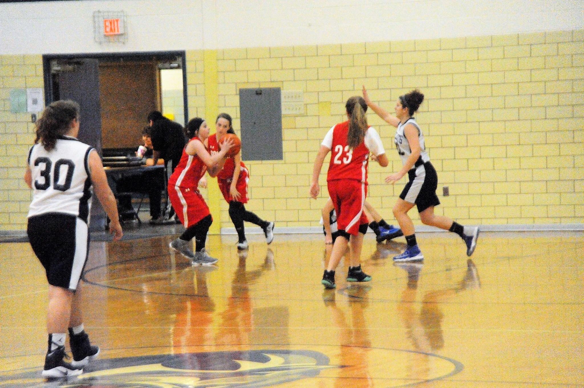 7th grade girls basketball player Hailey Kilgore