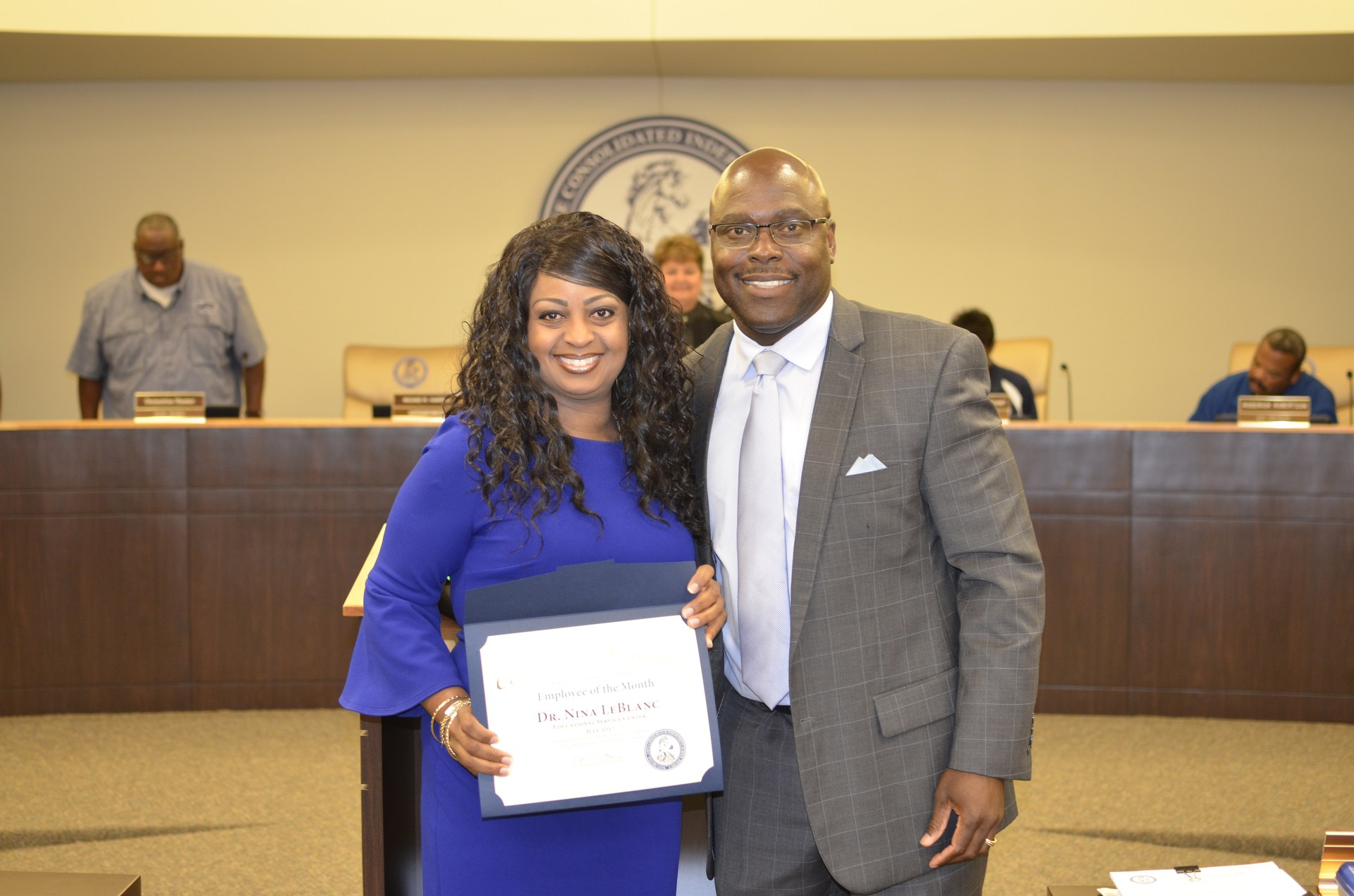 Dr. Nina LeBlance is recognized as Employee of the Month