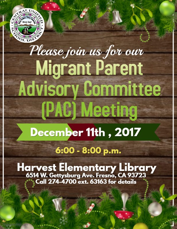 PAC meeting flier
