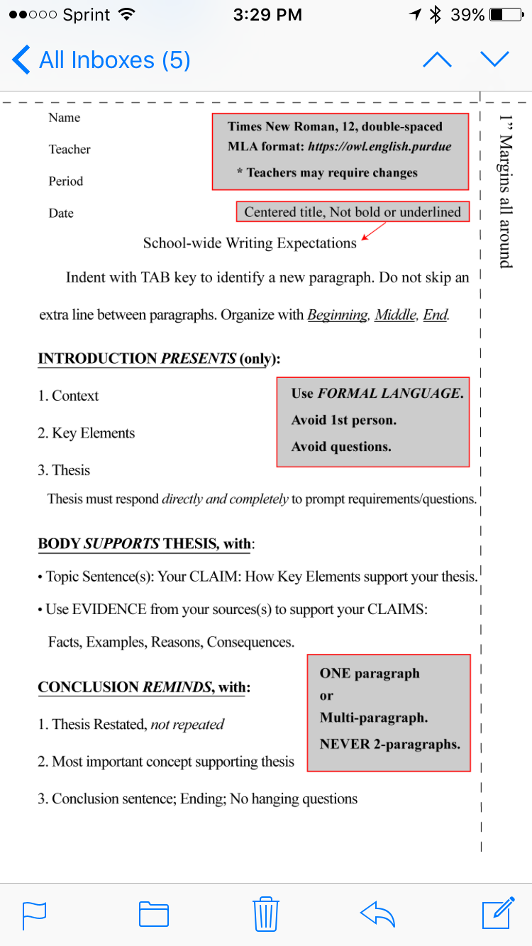 School Wide Writing Rubrics