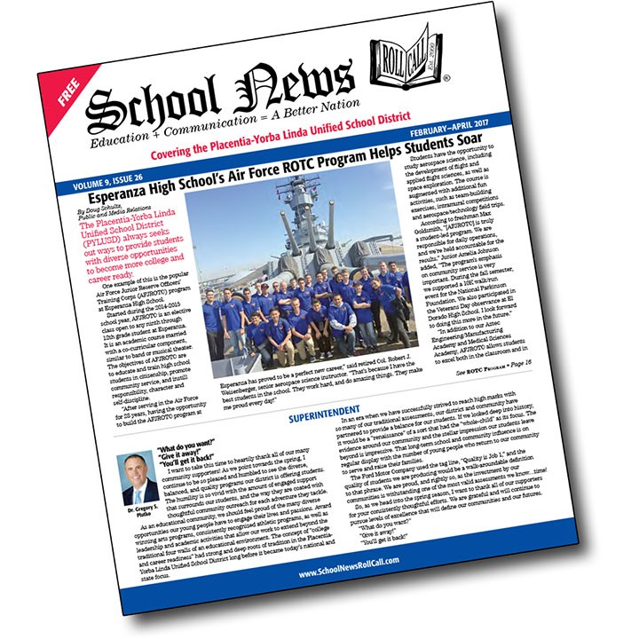 Latest issue of School News Roll Call now available Thumbnail Image
