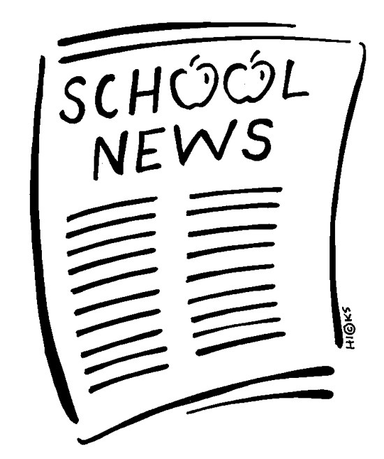 Clipart newspaper that reads 'School News'