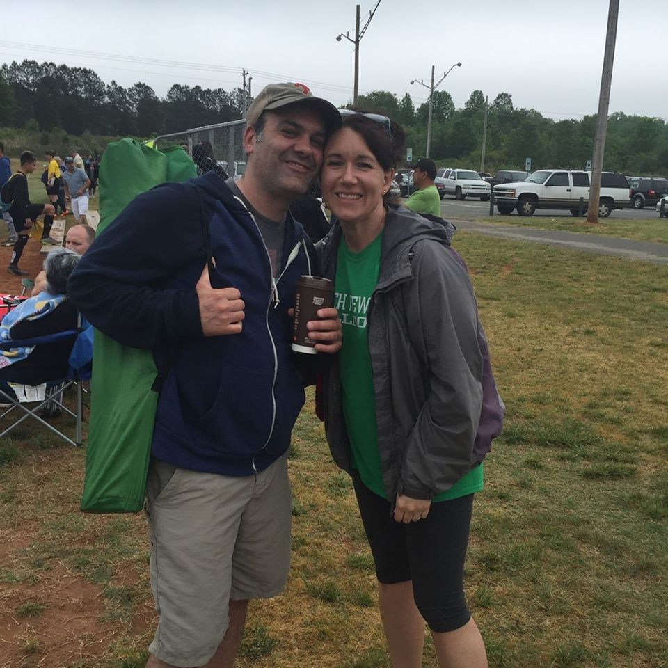 Picture of Mr. and Mrs. Fernetti at a soccer game.