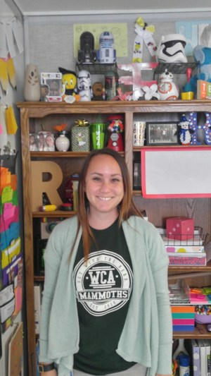 Teacher Meghan Reynolds in her classroom.