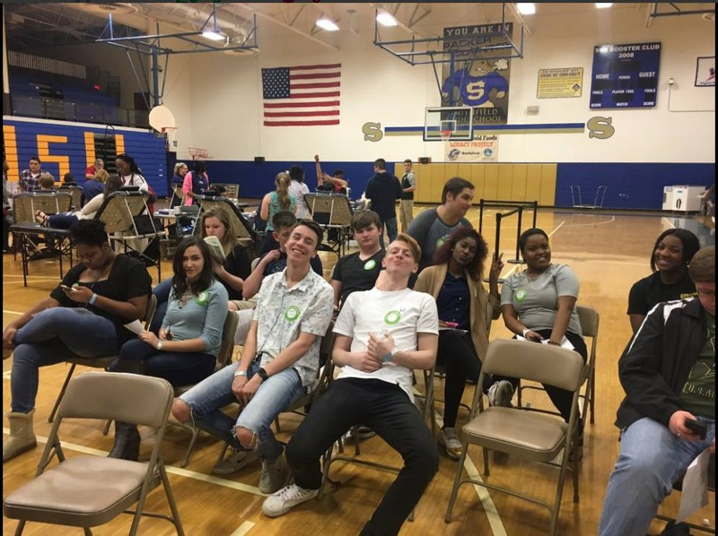 Picture of students at SHS Blood Drive