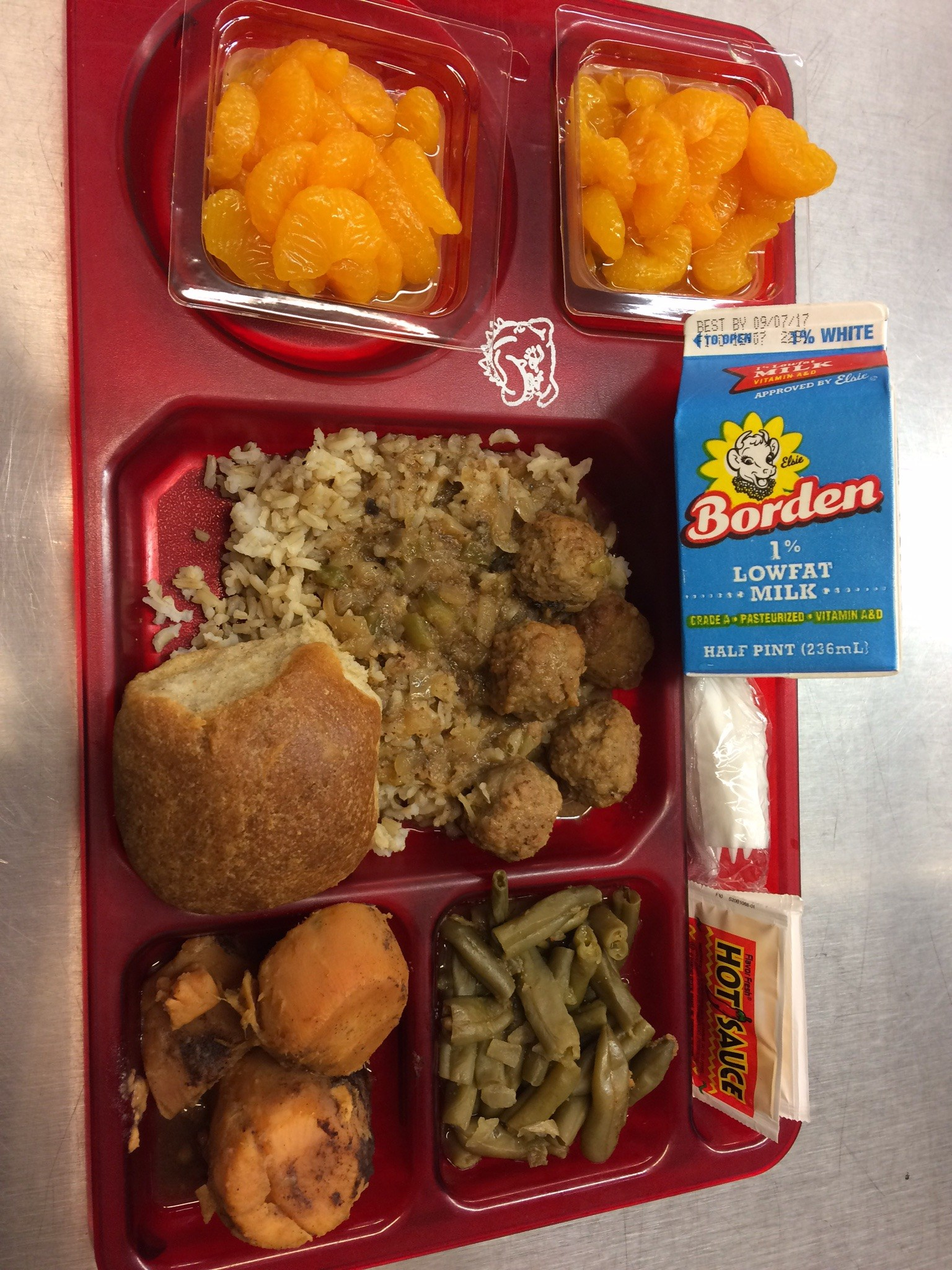 Meatball lunch tray