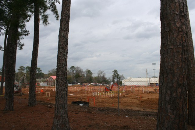Site excavation for the new Brookland-Cayce High's arena is complete and foundation work has begun.