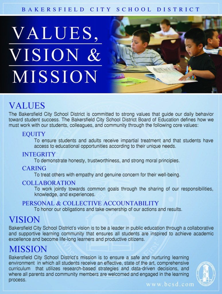 BCSD's Mission and Vision in English