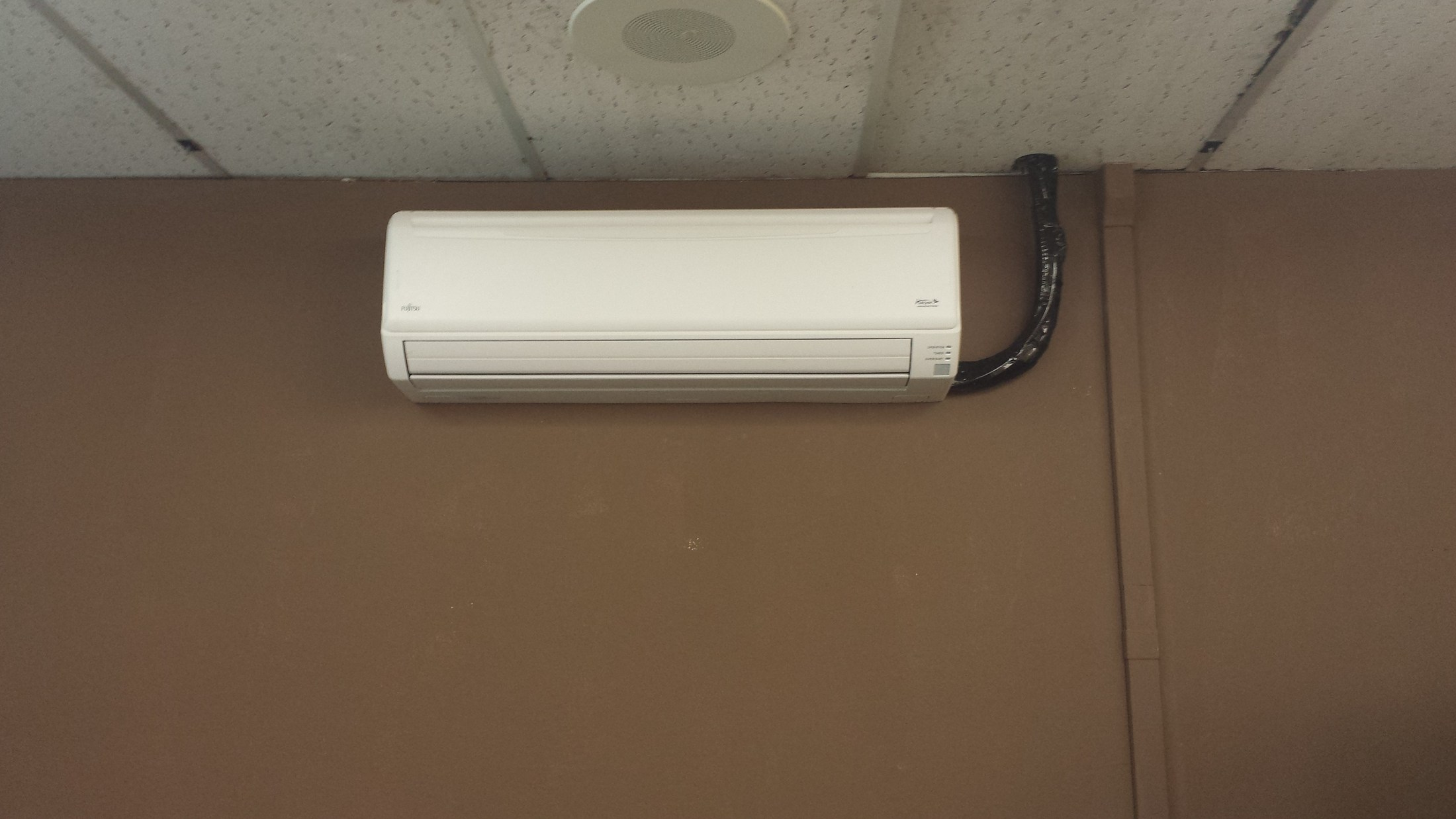Installation of small A/C unit