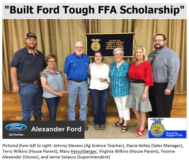 Built Ford Tough Scholarship Recipient Featured Photo