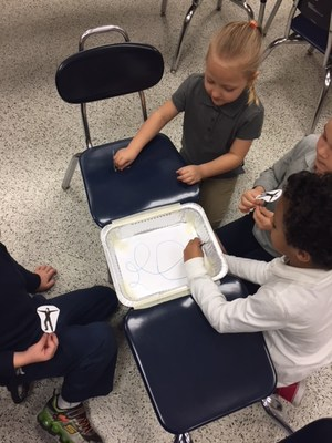 Recently, Mrs. Antoniou's kindergarteners explored Force and Motion using their best ice skating skills in honor of the USA Olympic Team Event bronze win.