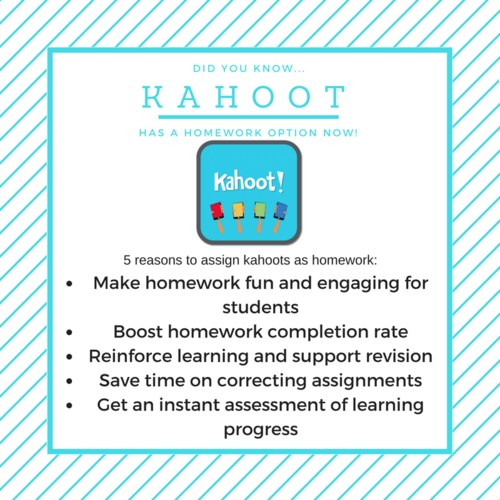 kahoot homework