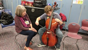 Alamo 5th grader learns to play the cello.