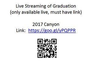 Graduation Link for live stream