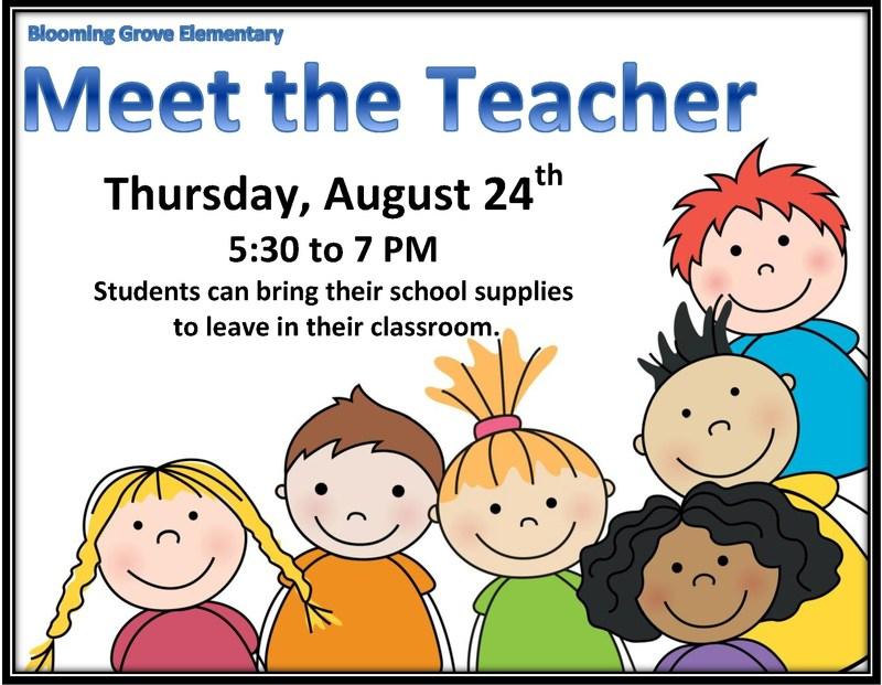Join us for Meet the Teacher! Thumbnail Image