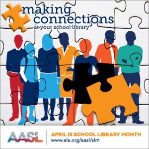 school library month logo