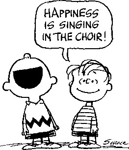 Peanuts, Happiness is singing in the choir