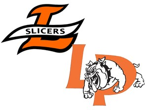 La Porte Slicers and La Porte Bulldogs logos