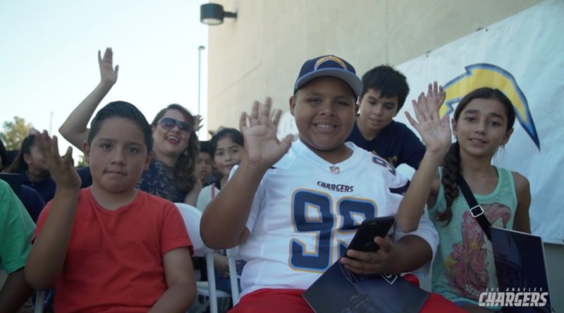 Jefferson students at the Chargers event