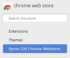 Byron 226 Chrome Webstore menu