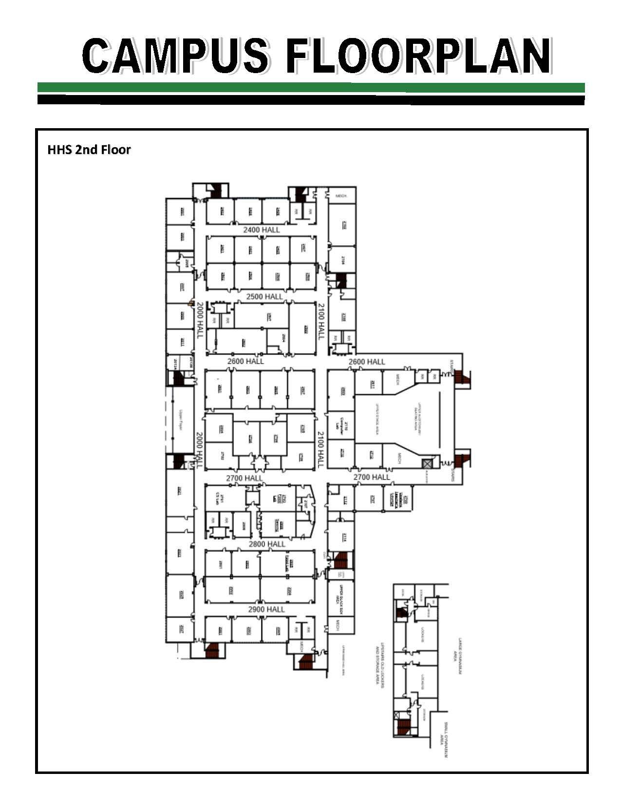 HHS Floorplan 2nd floor