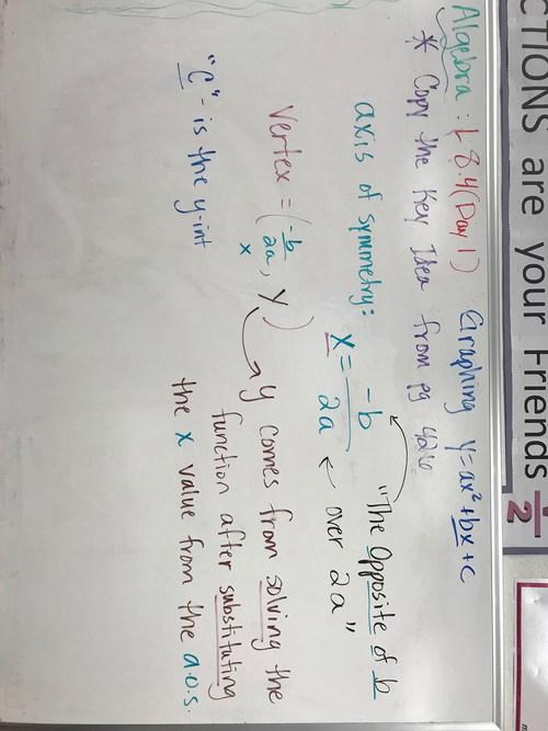 Algebra Lesson 8.4 Day 1