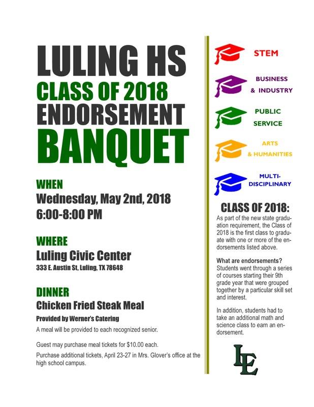 Class of 2018 Endorsement Banquet Thumbnail Image