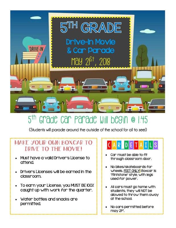 5th Grade Drive-In & Parade Thumbnail Image