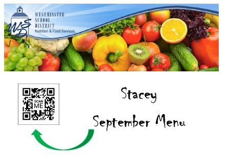 September lunch menu information