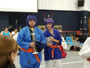 karate tournament student at competition