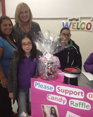 Candy raffle to raise money to by cans.